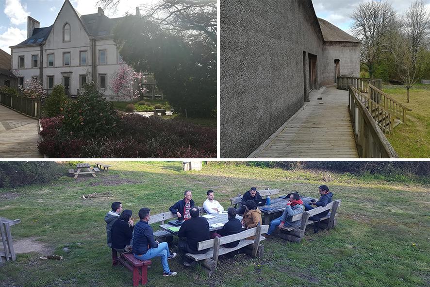 En Vendée, réunion de groupe printanière et visite d'un bâtiment biosourcé
